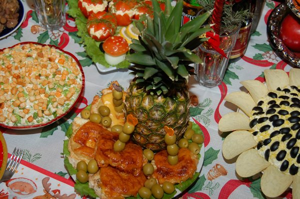Вкусные салаты для новогоднего стола