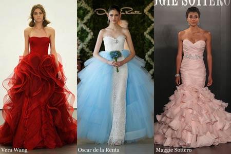 Модные цветные свадебные платья 2013. ФОТО - Гламурные