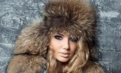 Женские меховые шапки-ушанки