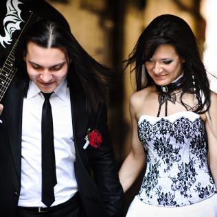 Особенности свадьбы в темных тонах